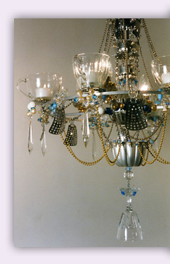 Teacup chandeliers by Madeleine Boulesteix